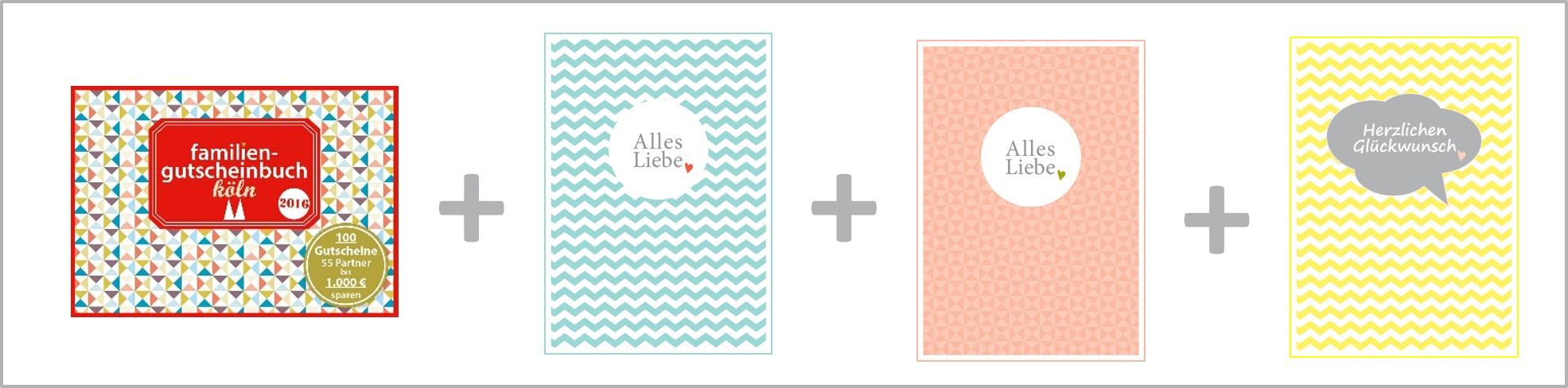 Familiengutscheinbuch Familienpostkarten Köln - Kurse & Wellness familiengutscheinbuch köln