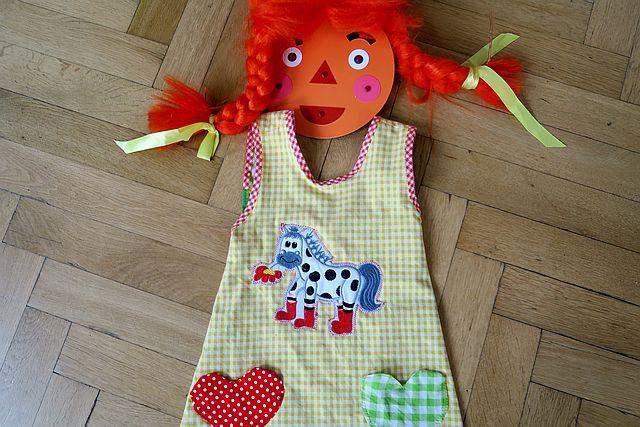 Pippi Langstrum Karnevalskostüm Schürzenkleid Pippi Langstrumpf 3 - Pippi Langstrumpf Kostüm Ideen
