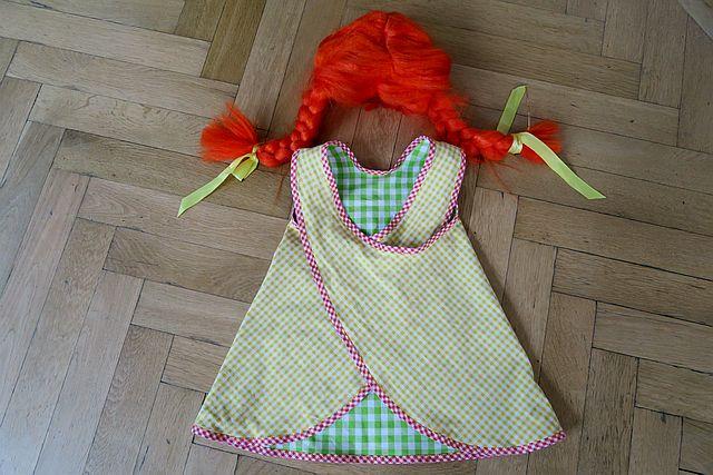 Pippi Langstrum Karnevalskostüm Schürzenkleid Pippi Langstrumpf 7 - Pippi Langstrumpf Kostüm Ideen