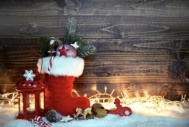 Weihnachtsstiefel - Mama, wo treffen wir den Nikolaus?
