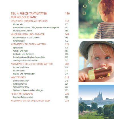 Köln mit Kind – Inhaltsverzeichnis Freizeitideen