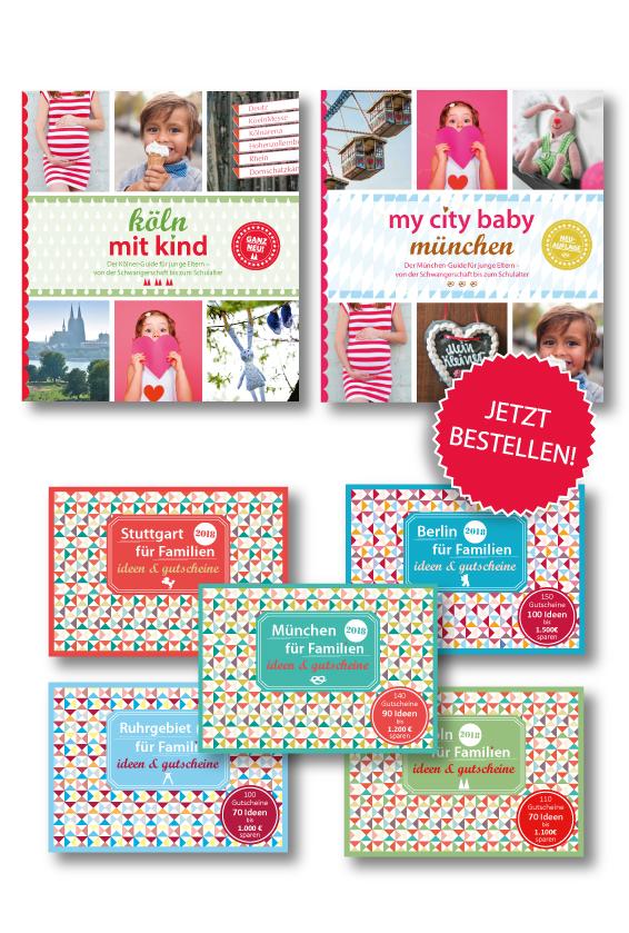 Familiengutscheinbuch Kinderguide München Kinderguide Köln my city baby
