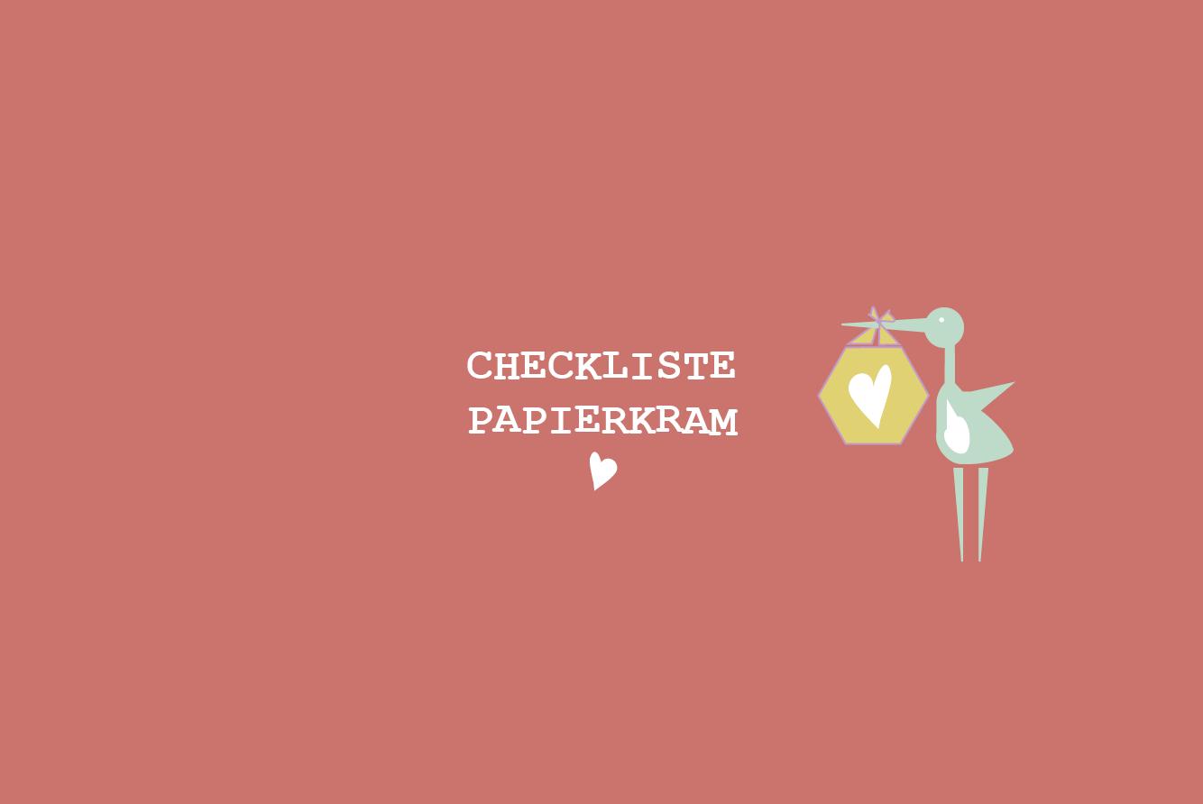 my city baby münchen Checkliste Papierkram - Checklisten Klinikkoffer, Erstaussstattung & Co.