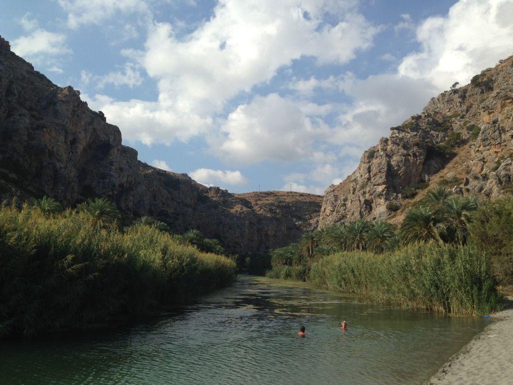 Kreta Preveli Palmenstrand klein - Kreta mit der Familie